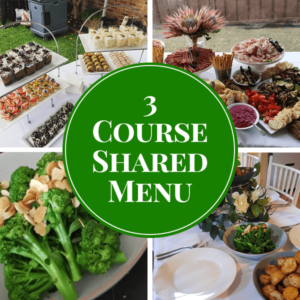 3 course shared catering menu
