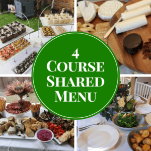 4 course shared catering menu
