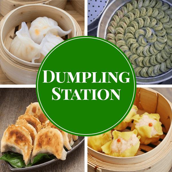 dumpling live station catering sydney