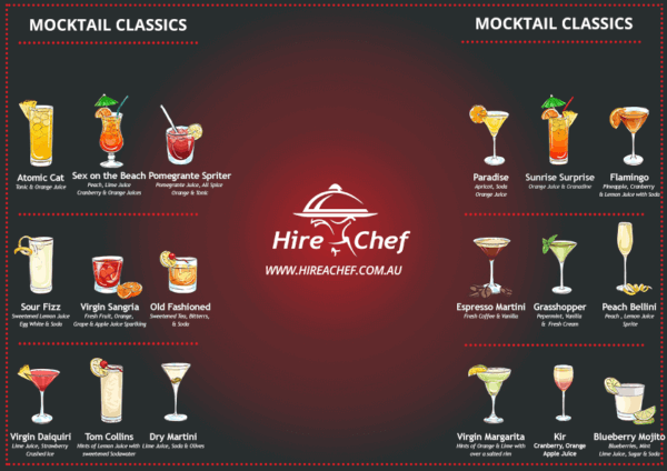 sydneys best mocktail menu by hire a chef