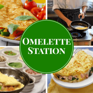 omelette live station catering sydney