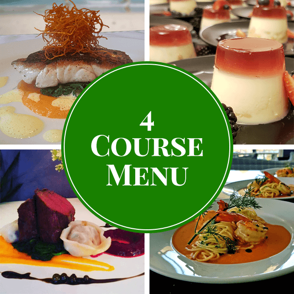 4 course plated catering menu