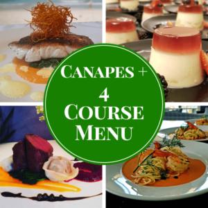 set menu 3 plated catering menu