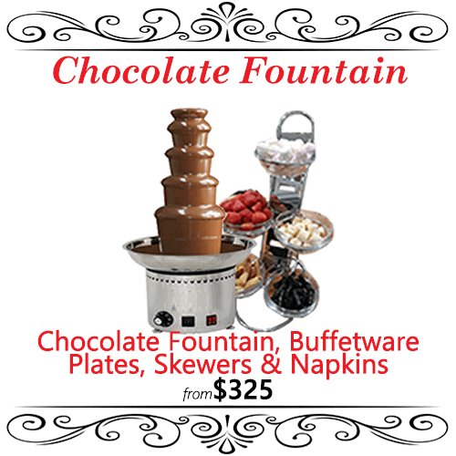 chocolate fountain dessert station package sydney party wedding
