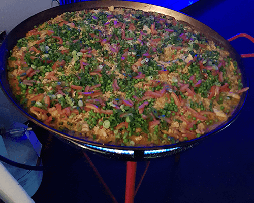 cooking vegetarian paella catering spanish party sydney