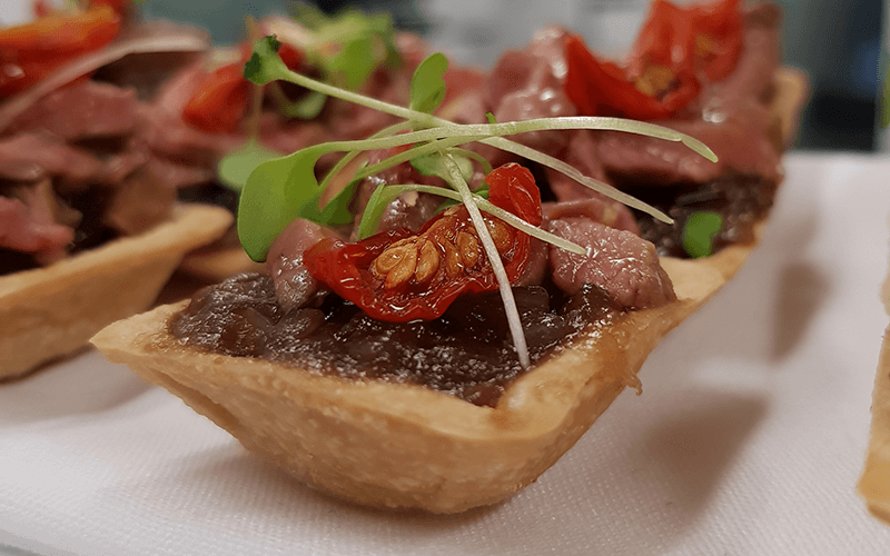 beef canape finger food catering